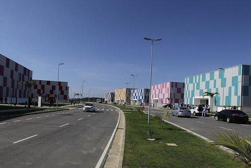 Primeira etapa do complexo contempla 10 galpões industriais e um prédio administrativo ( Arisson Marinho)