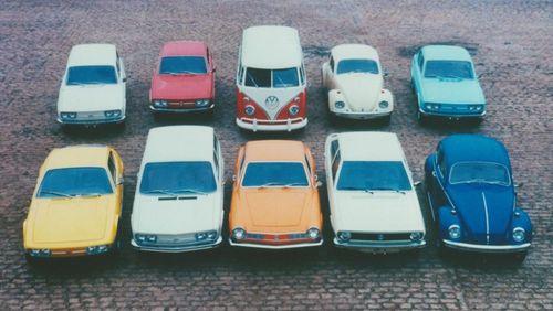 Foto de divulgação da linha VW 1975