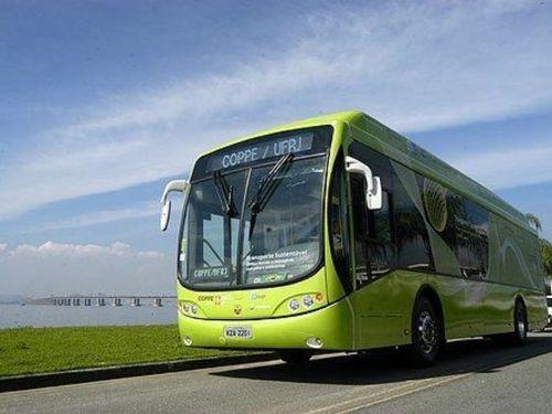 Ônibus híbrido produzido pela Coppe e Tracel / Divulgação