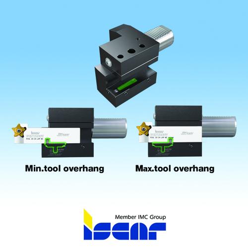 Ajuste do balanço da ferramenta pelo avanço ou recuo do porta ferramenta