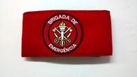 Braçadeira brigada de emergência bordada