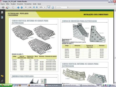 Curva vertical interna 90 graus para eletrocalha for Curva vertical exterior 90